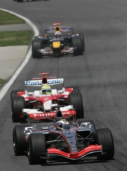 Juan Pablo Montoya leads Ralf Schumacher