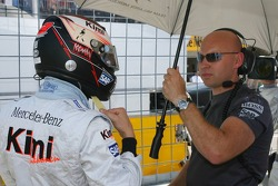 Kimi Raikkonen with his personal trainer Mark Arnall