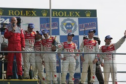 LMP1 podium: Audi Sport Team Joest on the podium