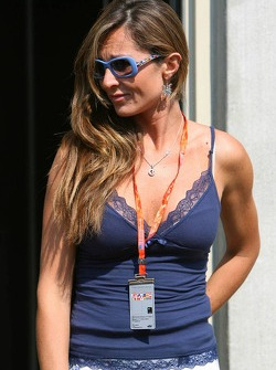 Luna, girlfriend of Giancarlo Fisichella