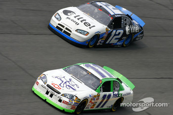 Denny Hamlin leads Ryan Newman
