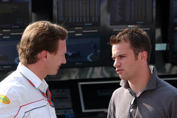 Christian Horner talks with Nicolas Lapierre