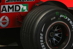 Bridgestone rear tyre of Michael Schumacher