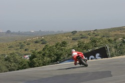 Sete Gibernau going a little wide at the corkscrew