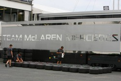 Team McLaren Mercedes setup for the weekend