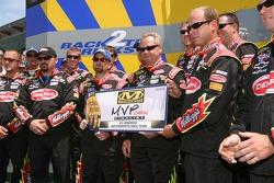 Hendrick Motorsports crew of Kyle Busch accepts MVP crew award