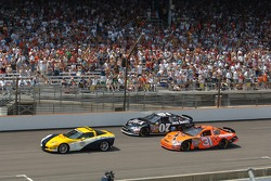 Pace laps: Jeff Burton and Clint Bowyer lead the field