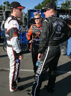 Kevin Harvick, Jeff Burton and Clint Bowyer