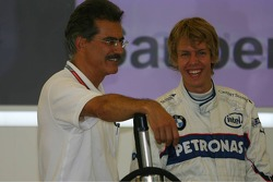 Dr. Mario Theissen with Sebastian Vettel