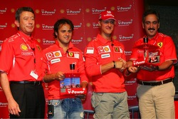 Shell press conference: Michael Schumacher and Felipe Massa