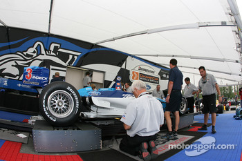 Forsythe Racing car at tech inspection