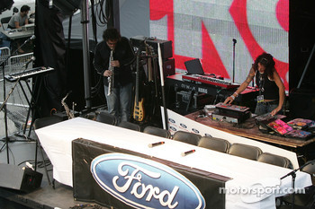 Ford Racing Festival on Crescent street: D.J.s at work