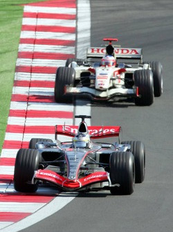 Pedro de la Rosa and Rubens Barrichello