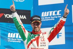 Third place Tiago Monteiro, Honda Racing Team JAS Honda Civic WTCC