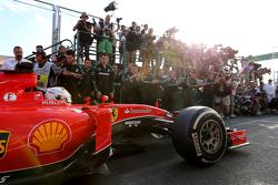 Derde plaats Sebastian Vettel, Scuderia Ferrari