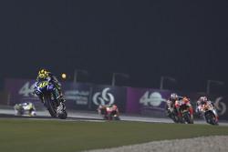 Valentino Rossi, Yamaha Factory Racing and Dani Pedrosa, Repsol Honda Team and Yonny Hernandez, Pramac Racing