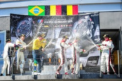 Podium: Second place #77 BMW Sports Trophy Team Brasil BMW Z4: Maxime Martin, Dirk Muller, Race winner #3 Belgian Audi Club Team WRT Audi R8 LMS Ultra: Stephane Richelmi, Stephane Ortelli and Third place #2 Belgian Audi Club Team WRT Audi R8 LMS Ultra: Ch