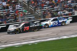 Martin Truex Jr., Furniture Row Racing Chevrolet and Brett Moffitt, Michael Waltrip Racing Toyota