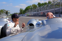Lewis Hamilton, Mercedes F1 and Sir Stirling Moss at Monza