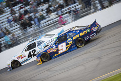 Brennan Poole, HScott Motorsports with Chip Ganassi and Chase Elliott, JR Motorsports Chevrolet