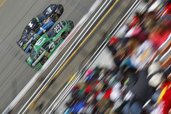 Austin Dillon, Richard Childress Racing Chevrolet and Jamie McMurray, Chip Ganassi Racing Chevrolet