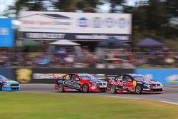 Jamie Whincup, Triple Eight Race Engineering Holden and Fabian Coulthard, Brad Jones Racing Holden