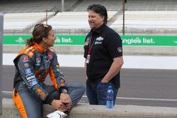 Simona de Silvestro and Michael Andretti