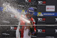 Podium Race 1: 3rd position Jordi Gene, SEAT Leon, Team Craft-Bamboo LUKOIL