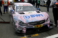 The Car of Lucas Auer, ART Grand Prix Mercedes-AMG C63 DTM after the crash in the information lap