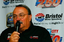 Car owner Bill Davis responds to question from the media regarding driver Jeremy Mayfield joining Bill Davis Racing to drive the #36 Toyota Camry in 2007