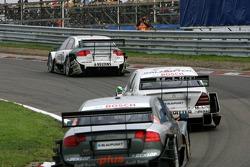 Heinz-Harald Frentzen leads Jamie Green and Timo Scheider