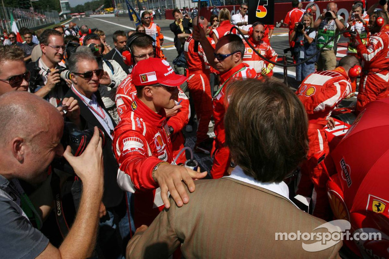 Michael Schumacher and Luca di Montezemolo