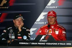 FIA press conference: race winner Michael Schumacher and Kimi Raikkonen
