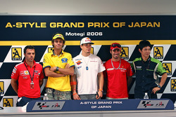 Press conference: Loris Capirossi;Valentino Rossi;Nicky Hayden;Marco Melandri and Shinya Nakano