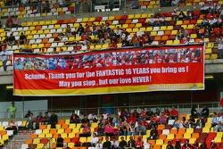 Michael Schumacher fans banner