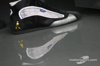 A racing shoe of Pedro de la Rosa