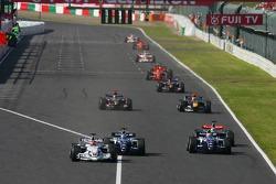 Robert Kubica, Nico Rosberg and Mark Webber