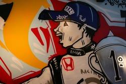 Lucky Strike PR day: art work on the wall