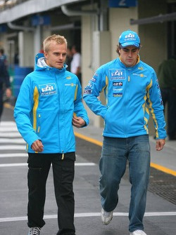 Heikki Kovalainen and Fernando Alonso