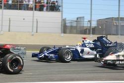 Mark Webber and Nico Rosberg crash