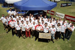 Kronos Total Citroen team members celebrate the birthday of Daniel Sordo