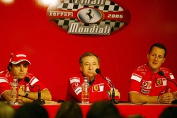 Press conference: Felipe Massa, Jean Todt and Michael Schumacher