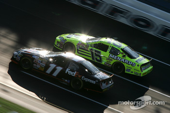 Denny Hamlin and Paul Menard