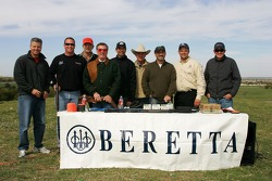 Beretta Celebrity Clay Shoot, at the Circle T Ranch in Fort Worth, Texas: a group shot of the celebrities