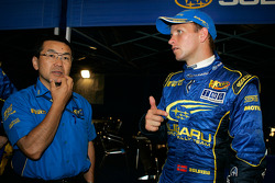 Petter Solberg with engineer Shigeo Sugaya