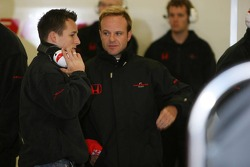 Christian Klien and Rubens Barrichello