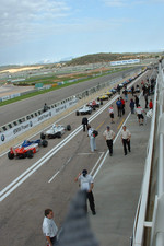 Cars wait to go to the grid