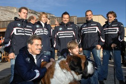 Dr Mario Theissen with BMW Motorsports drivers