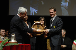 Michael Schumacher with Scuderia Ferrari Club Maranello President