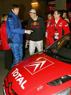 Marcus Gronholm has a look at the new Citroen C4 WRC